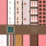 Girly Brown Digital Kit